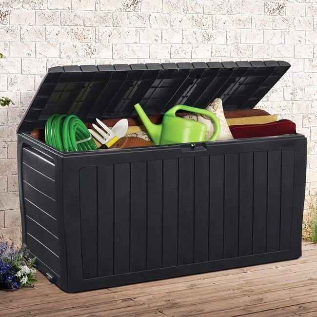 Offene Auflagenbox aus Kunststoff